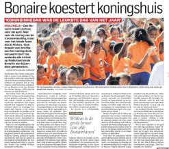 'Bonaire koestert koningshuis' | Gepubliceerd in AD 29 april 2013
