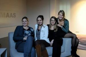 Vlnr: Judith Waterreus, Brenda de Visser, Lindsay Brusik en Janieke Bouwman